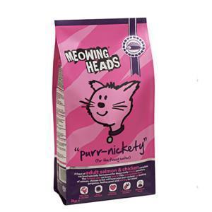 Meowing Heads Purr-nickety сухой корм для кошек с лососем