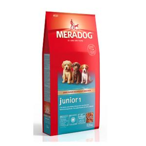 MeraDog Junior 1 для щенков, беременных и кормящих сук сухой корм 12,5 кг