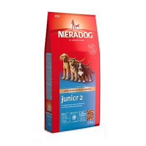 MeraDog Junior 2 сухой корм для щенков крупных пород 12,5 кг
