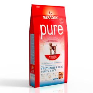 MeraDog Pure Junior для щенков сухой корм Индейка/рис 12,5 кг