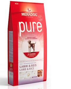 MeraDog Pure Lamb гипоаллергенный сухой корм для собак Ягненок с рисом 12,5 кг