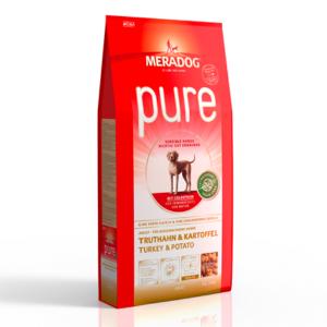 MeraDog Pure Turkey & Potato сухой корм для собак Индейка/картофель 12,5 кг