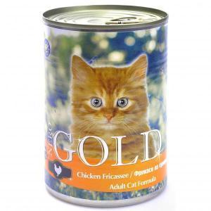 Nero Gold Chicken Fricassee консервы для кошек с курицей 410 г