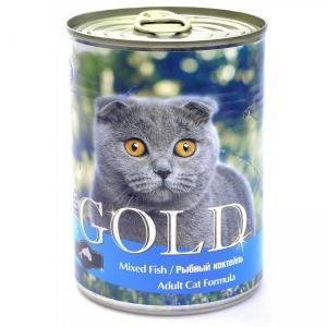 Nero Gold Mixed Fish консервы для кошек Рыбное ассорти 410 г