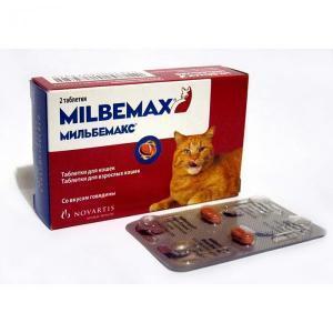 Novartis Milbemax таблетки от глистов для кошек