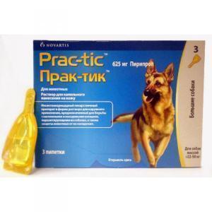 Novartis Прак-тик капли для собак от блох и клещей