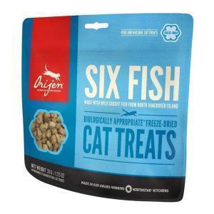 Orijen Cat Treats Six Fish лакомство для кошек из рыбы 35 г