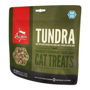 Orijen Cat Treats Tundra лакомство для кошек с оленем перепелом и форелью 35 г