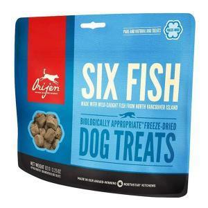 Orijen Dog Treats Six Fish лакомство для собак с рыбой 92 г