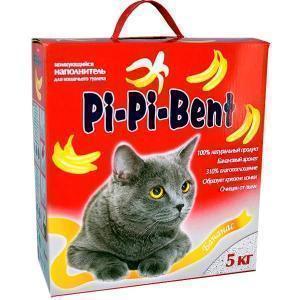 Pi-Pi-Bent наполнитель для кошачьего туалета Банановый 5 кг