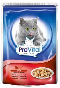 PreVital classic влажный корм для кошек Говядина в желе 100г*24шт
