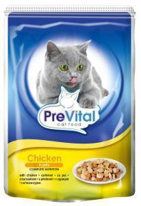PreVital classic влажный корм для кошек Курица в желе 100г*24шт