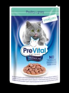 PreVital classic влажный корм для Стерилизованных кошек кусочки в соусе 100г*24шт