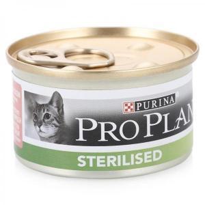 Pro Plan Adult Sterilised Salmon консервы для стерилизованных кошек с лососем 85 г (24 штуки)