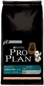 Pro Plan Puppy Sensitive сухой корм для щенков с лососем и рисом 14 кг