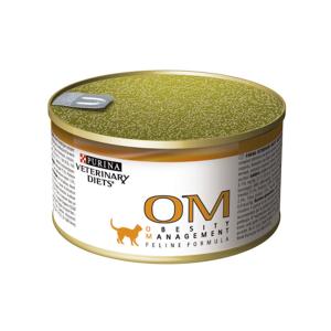 Purina OM Obesity лечебные консервы для кошек при ожирении 195 г (24 штуки)