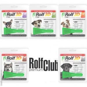 Rolf Club 3D капли на холку от блох и клещей для собак