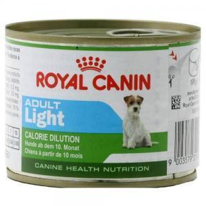 Royal Canin Adult Light консервы-мусс для собак 200 г (12 штук)
