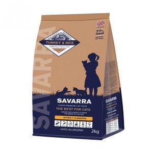 Savarra Kitten Turkey & Rice гипоаллергенный сухой корм для котят от 1 месяца 15 кг