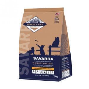 Savarra Light Cat Turkey & Rice сухой корм с индейкой для кошек, склонных к полноте, 15 кг