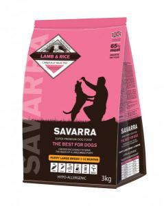 Savarra Puppy Large Breed сухой корм с ягненком для щенков крупных пород