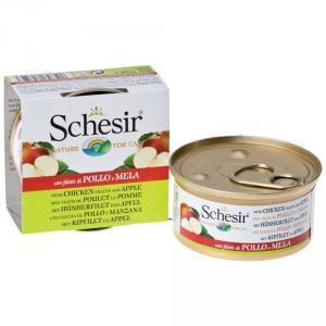 Schesir with Chicken and Аpple консервы для кошек с курицей и яблоками 75 г (14 штук)