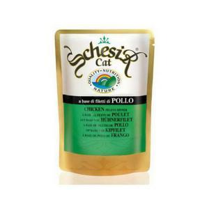 Schesir Chicken консервы для кошек с курицей 100 г х 20 шт