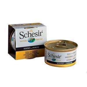 Schesir with Tuna with Surimi (Crab) консервы для кошек с тунцом и сурими 85 г (14 штук)