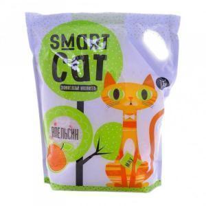 Smart Cat силикагелевый наполнитель с ароматом апельсина