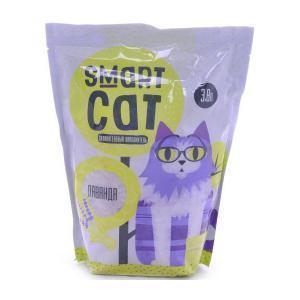 Smart Cat силикагелевый наполнитель с ароматом лаванды