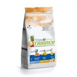 Trainer Fitness3 No Gluten Medium/Maxi Adult сухой беззерновой корм для собак средних и крупных пород с лососем