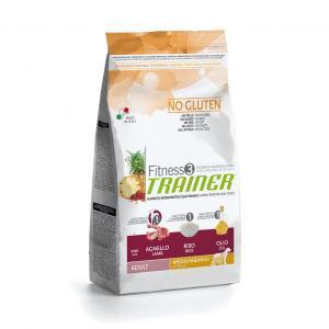 Trainer Fitness3 No Gluten Medium/Maxi Adult сухой беззерновой корм для собак средних и крупных пород с ягненком