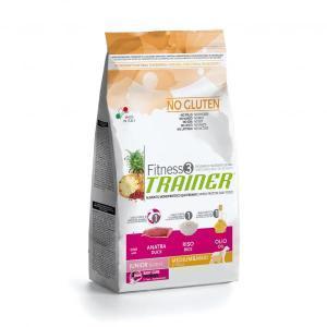 Trainer Fitness3 No Gluten Medium/Maxi Junior сухой беззерновой корм для молодых собак средних и крупных пород с уткой