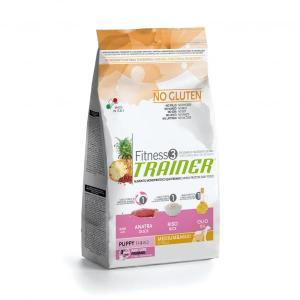 Trainer Fitness3 No Gluten Medium/Maxi Puppy сухой беззерновой корм для щенков крупных и средних пород с уткой