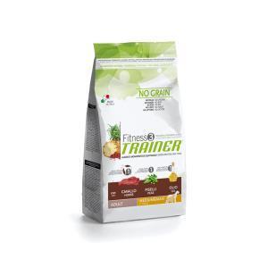 Trainer Fitness3 No Grain Medium/Maxi Adult сухой беззерновой корм для собак средних и крупных пород с кониной