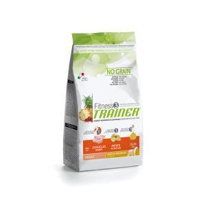 Trainer Fitness3 No Grain Medium/Maxi Adult сухой беззерновой корм для собак средних и крупных пород с кроликом