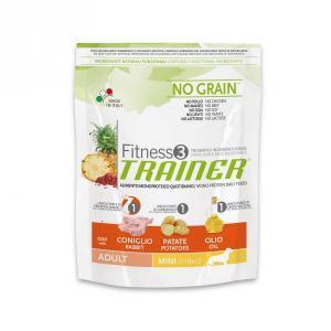 Trainer Fitness3 No Grain Mini Adult сухой беззерновой корм для собак маленьких пород с кроликом