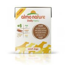 Almo Nature Daily Menu Chicken & Beef Tetrapack консервы для собак с курицей и говядиной 375 г