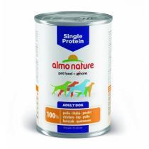 Almo Nature Single Protein Chicken консервы для собак с чувствительным пищеварением с курицей 400 г