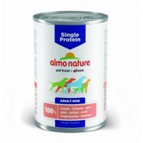 Almo Nature Single Protein Pork консервы для собак с чувствительным пищеварением со свининой 400 г