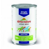 Almo Nature Single Protein Turkey консервы для собак с чувствительным пищеварением с индейкой 400 г