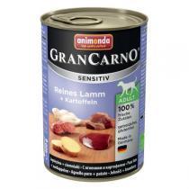 Animonda GranCarno Sensitiv консервы для собак с чувствительным пищеварением ягненок и картофель 400 г х 6 шт
