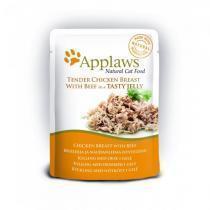 Applaws cat pouch chicken with beef in jelly консервы для кошек с курицей и говядиной 70 г х 16 шт