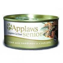 Applaws Senior Cat Tuna with Sardine in Jelly консервы для пожилых кошек с тунцом и сардинами 70 г х 24 шт