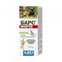 Барс Форте спрей инсектоакарицидный для кошек 100 мл