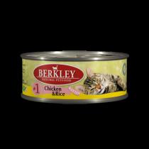 Berkley Chicken & Rice Kitten №1 консервы для котят с курицей и рисом 100 г (6 штук)