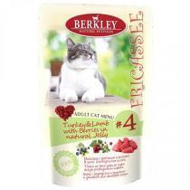 Berkley Fricasse Turkey консервы для кошек с индейкой 100 г (12 штук)