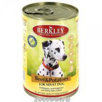 Berkley консервы для взрослых собак Говядина и картофель 400г*6шт