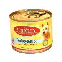 Berkley Turkey & Rice Adult Dog консервы для собак индейка с рисом 200 г (6 штук)