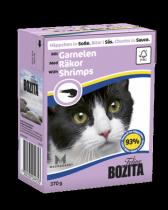 Bozita консервы для кошек кусочки в соусе с Креветками 370 г
